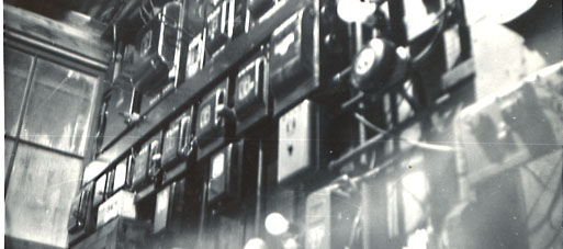 The Master Electric Control Room in the Tin Palace, ca. 1970