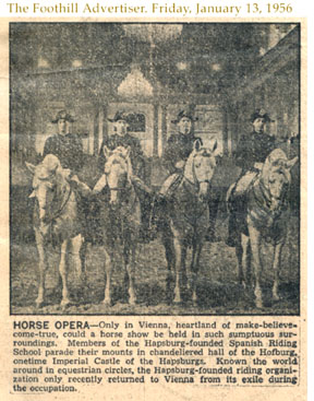 The Hapsburg Horse Opera