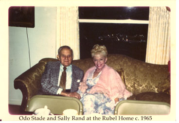 Odo Stade and Sally Rand at the Rubel Home, 861 E. Leadora Ave., Glendora, California, ca. 1965