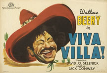 Viva Villa movie poster with Wallace Beery.